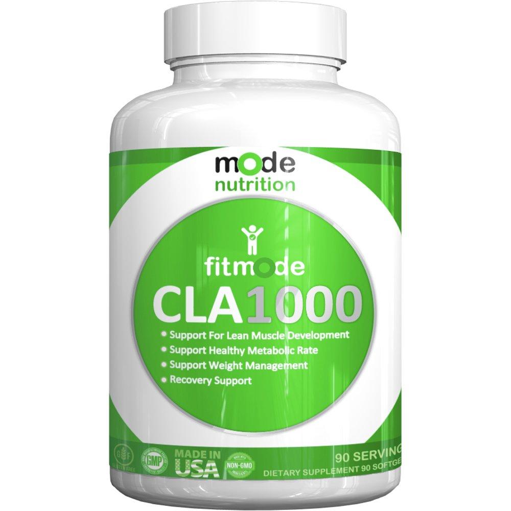 mode nutrition - CLA 1000 Conjugated linoleic acid, 90 Serving Soft Gel, Weight Loss Supplement, Stimulant-Free Fat Burner