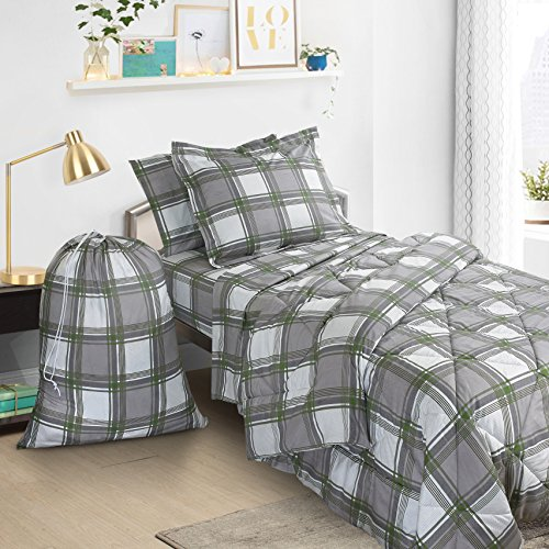 Green Plaid Bed In A Bag - 6