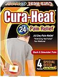 Cura Heat Back & Shoulder Pain - 4-Pack