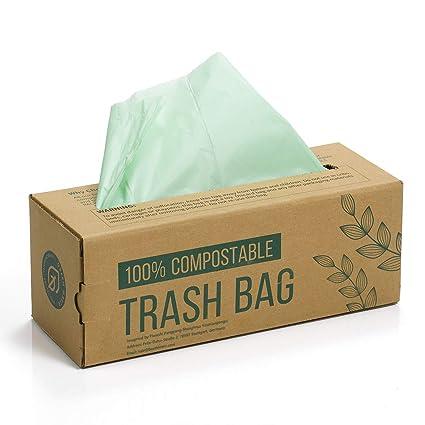 Green Maker 150 Bolsas Compost Liners Bolsas para residuos de Cocina de 6L, 8L, 10L Bolsas 100% biodegradables Hechas de almidón de maíz con ...
