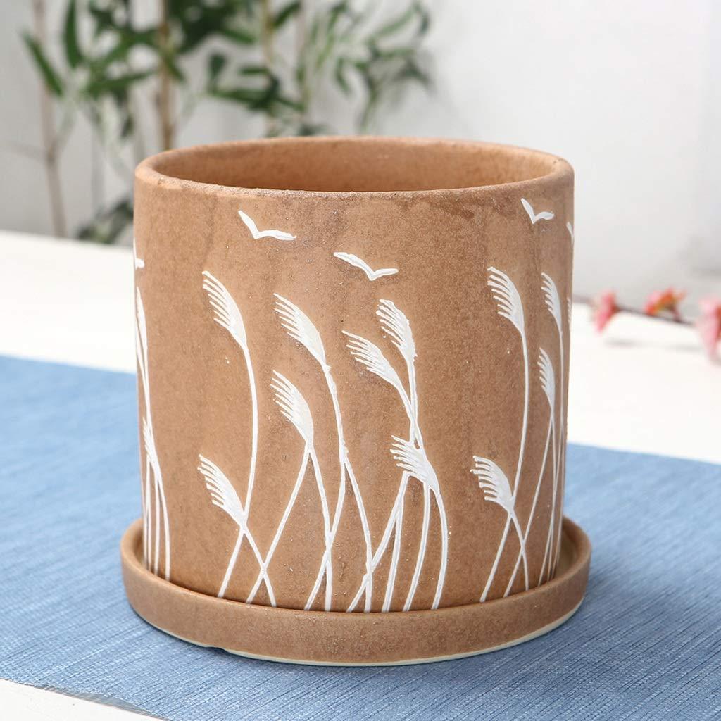 la migliore offerta del negozio online HLJ Vaso da Fiori Semplice da da da Balcone Vaso da Fiori Squisito da grassa Vaso da Fiori in Ceramica da Interno Creativo (Dimensione   XL 20.5  20.5cm)  economico e di alta qualità