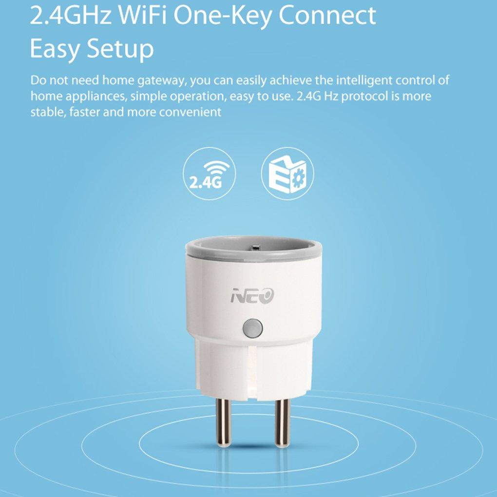 per Alexa Presa di Sostegno Smartphone Telecomando EU Plug Lorsoul Neo CoolCam NAS-WR01W Smart Wireless 2.4Ghz WiFi Spina