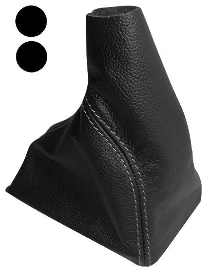 Funda para palanca de cambios 100/% Piel genuina negro con costuras de colores variables AERZETIX Negro