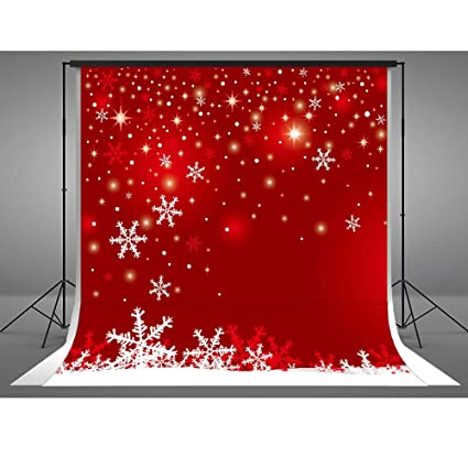 8x8ft winter backdrops photography cotton cloth christmas photo booth backdrop white snowflake red background parties
