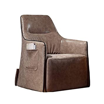 Amazon.com: Brjie Retro Leather Sofa Chair Office Single ...