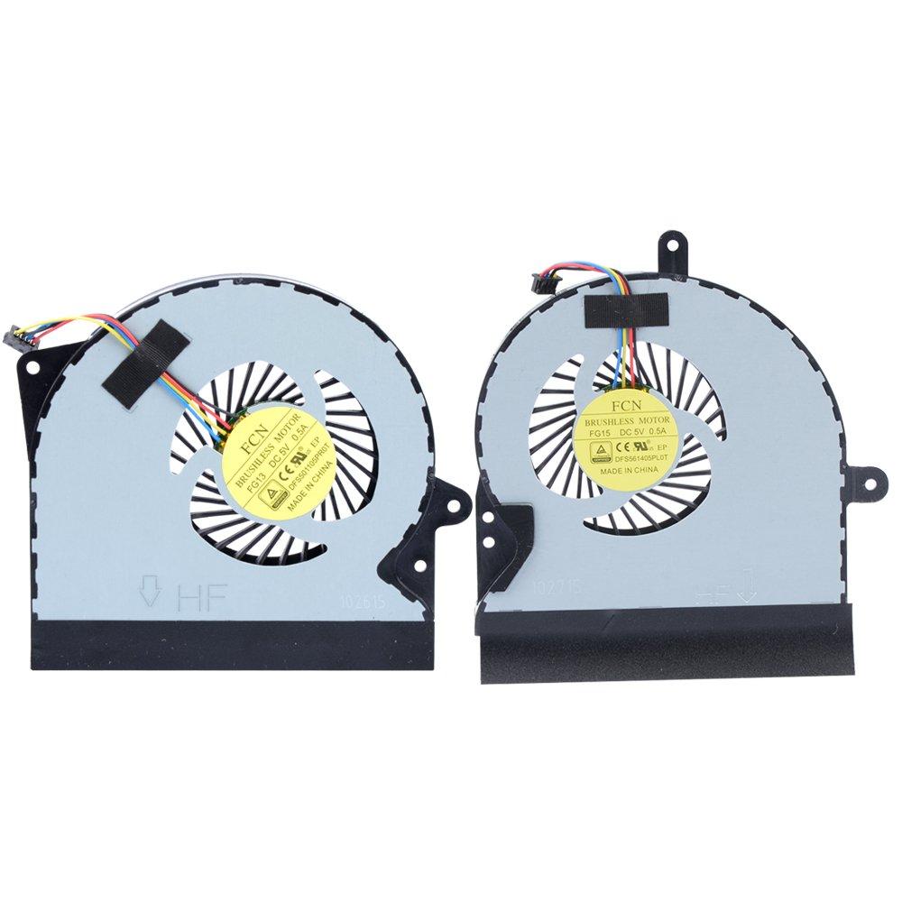 Cooler Gpu Vga Para Asus G751 G751j G751m G751jt G751jy G751jm Dfs561405pl0t Dfs501105pr0t Series (2 Different Para G751