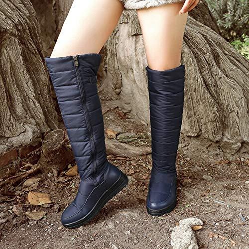 stringati piatti donne con Stivali le per invernali stivali blu stivali neve donna da Kaiki XYSFqwSU