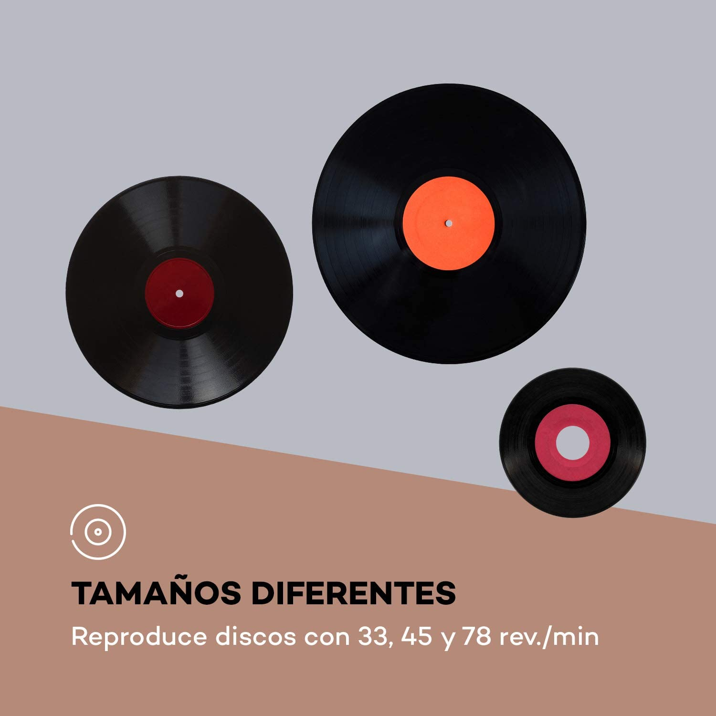auna Sarah ANN - Tocadiscos con Altavoces Integrados, Tocadiscos ...