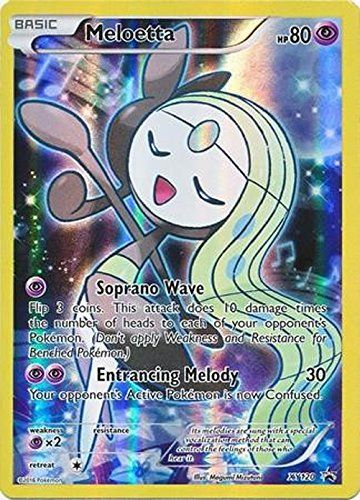 Pokemon - Meloetta (XY120) - XY Mythical Box Black Star Promos - Holo (Meloetta Card)