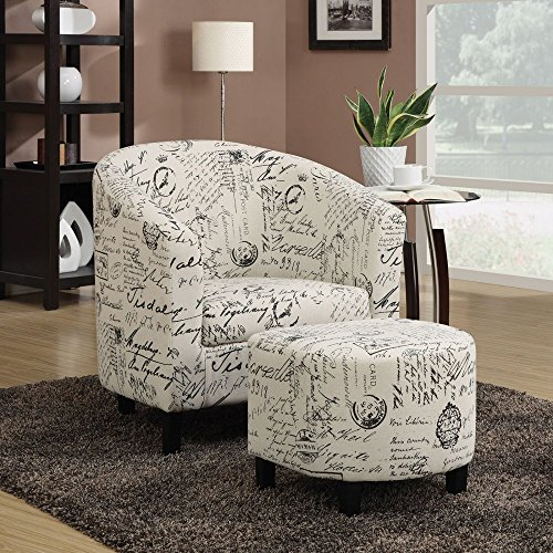 coaster-home-furnishings-900210-accent-chair-and-ottoman-in-vintage-french-print-fabric
