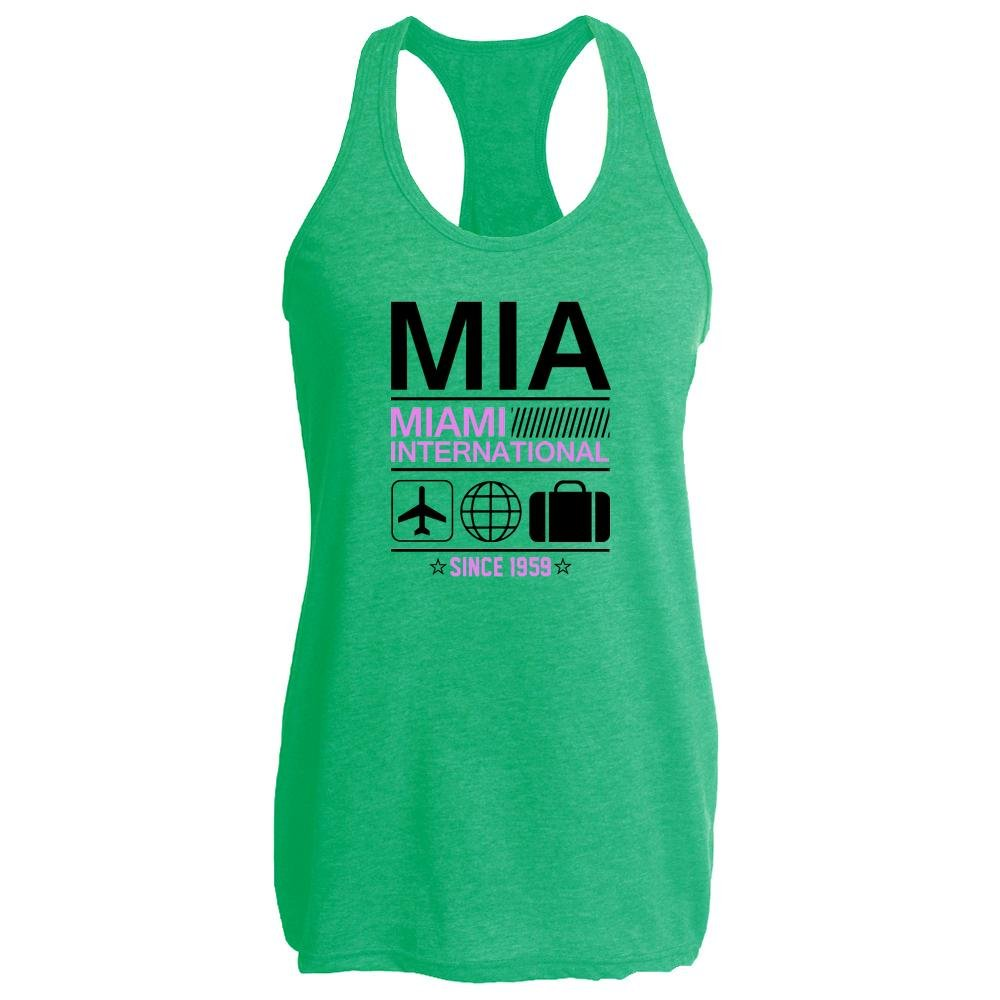 MIA Miami Airport Code Since 1959 Travel Heather Kelly M Womens Tank Top by Pop Threads