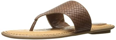 Dr. Scholl's Shoes Women's Resonate Slide Sandal, Dark Tan Woven, ...
