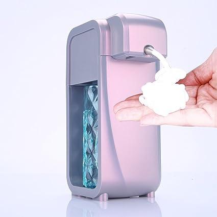 Mini espuma dispensador de jabón con ajustable para baño cocina sobre encimera pared baño kidchen para
