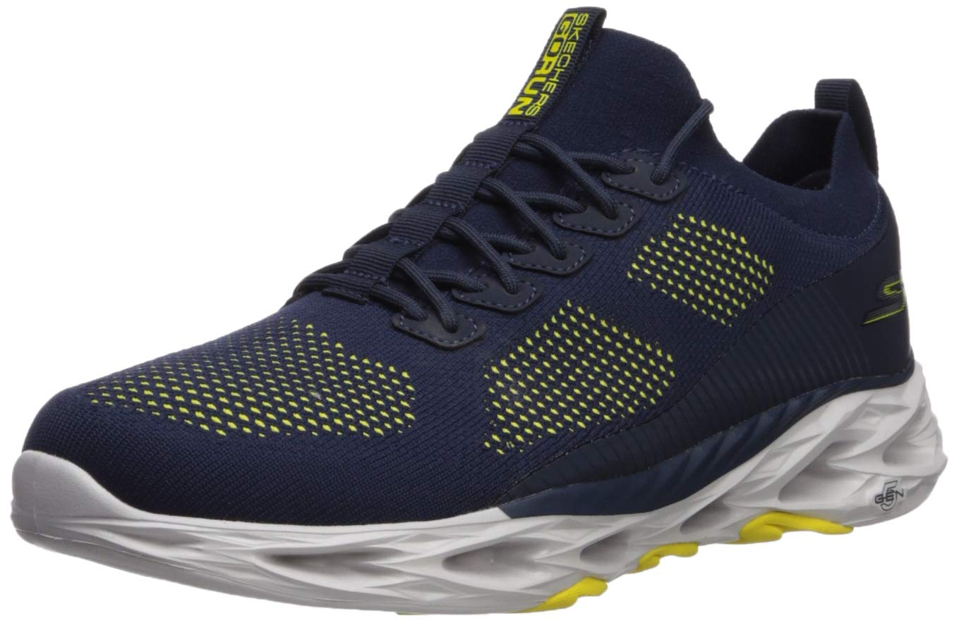 Skechers Men's GO Run VORTEX-54840 Sneaker, Navy/Yellow, 13 M US by Skechers
