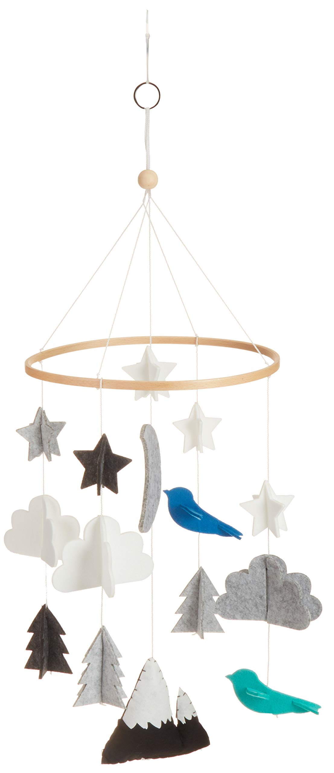 Dreamy Cloud and Stars for Nursery Decor and Ceiling Decoration Gender Neutral and Handmade Premium Materials Baby Crib Mobile by Cheeky Owl