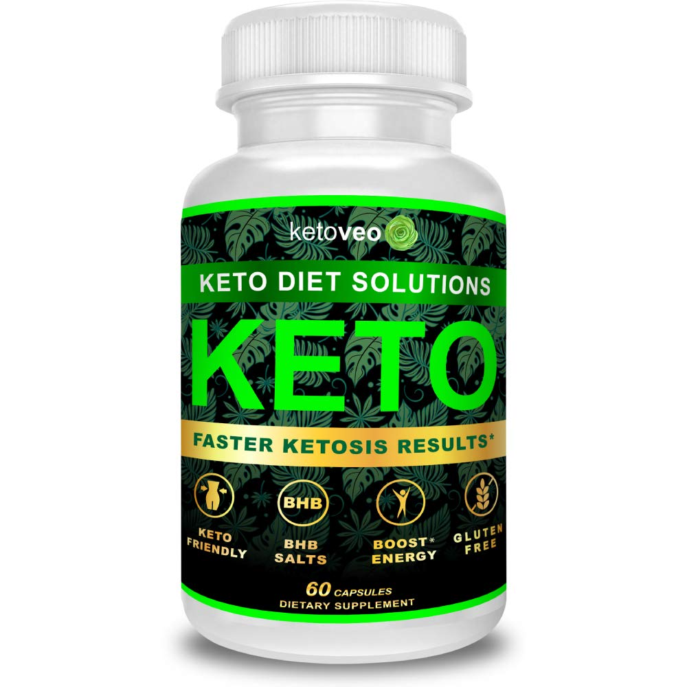 Keto Pills That Work Fast for Women & Men - Keto BHB Capsules Salts Exogenous Ketones Supplement - Keto Diet Pills Energy Boost, Raspberry Ketones, No Caffeine - Get in Ketosis for Ketogenic Diet by ketoveo