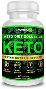 Keto Pills That Work Fast for Women & Men - Keto BHB Capsules Salts Exogenous Ketones Supplement - Keto Diet Pills Energy Boost, Raspberry Ketones, No Caffeine - Get in Ketosis for Ketogenic Diet