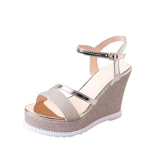 fc39e2fd3a3 DENER Women Ladies Girls Summer Wedge Sandals