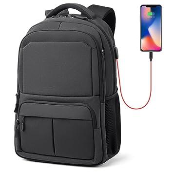Mochila para laptop resistente al agua, con puerto de carga USB externo Fresion Mochila para viaje de negocios Mochila para universitarios Macbook Mochilas ...
