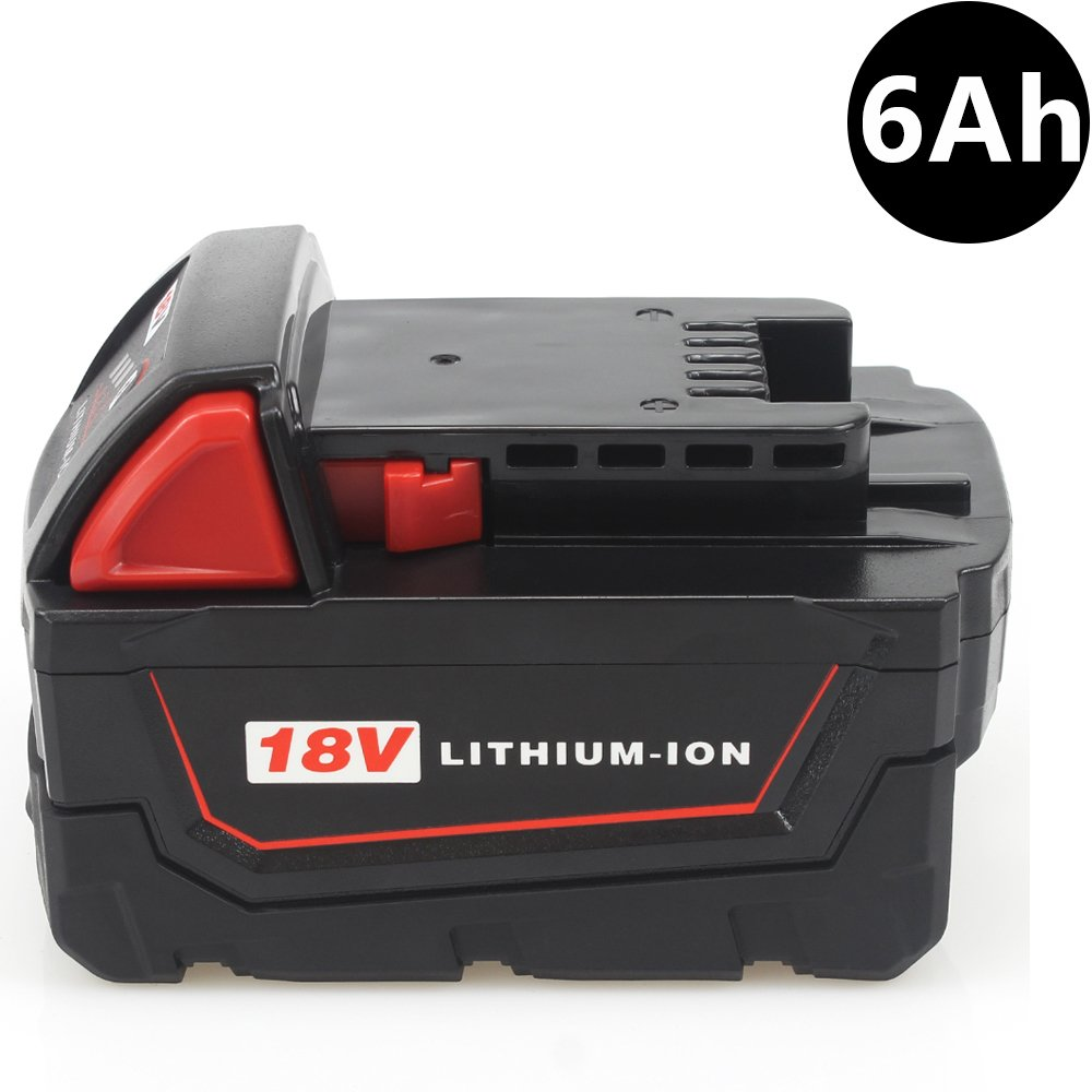 AOYAN M18 18V Battery 6.0Ah Replacement Battery for M18B9 48-11-1890 48-11-1850 48-11-1820 48-11-1828 48-11-10 XC Red Lithium-ion Cordless Tools Battery