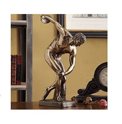 Captivating Home Decor Creative Statue Sports Figurines Desk Statue For Home,Office  Decor (Saucer Statue