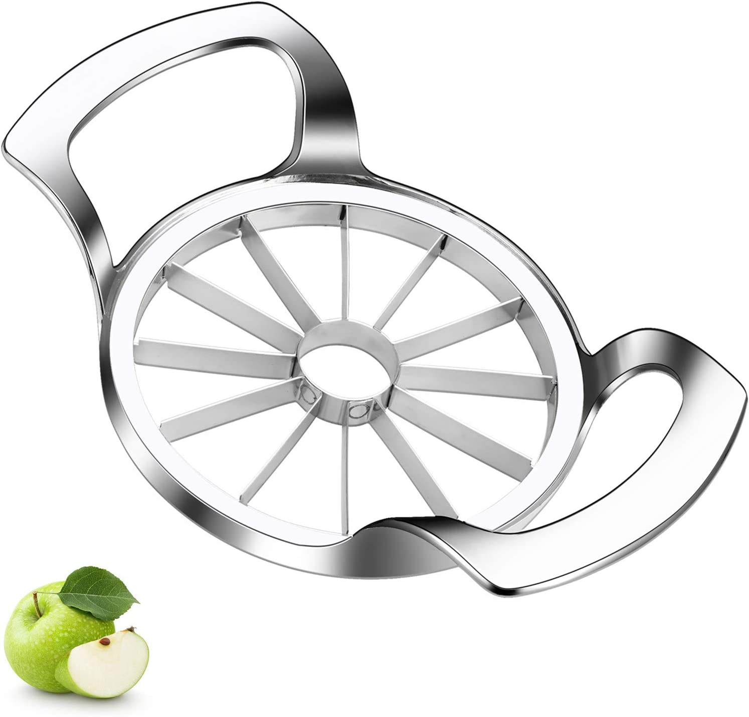 Upgraded Version Apple Corer Peeler, Jsdoin 12-Blade Extra Large Apple Slicer, Stainless Steel Ultra-Sharp Apple Cutter, Pitter, Divider for Up to 4 Inches Apples