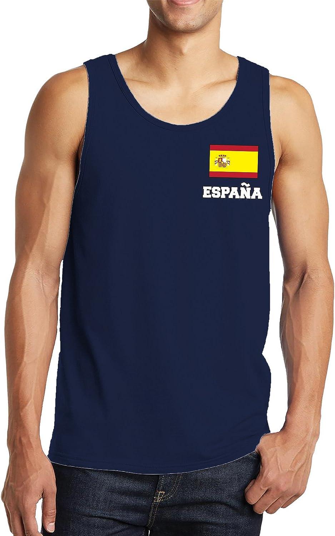 SpiritForged Apparel Espana Chest Flag Mens Tank Top Charcoal 3XL