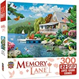 "MasterPieces PuzzleCompany Lane Lakeside Memories Puzzle (300 Piece), Multicolored, 18""X24"""