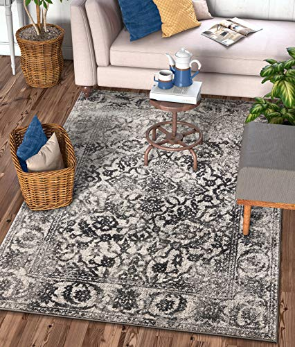 Well Woven 22874 Sydney Vintage Sheffield Grey Traditional Oriental Distressed Area Rug 3'3