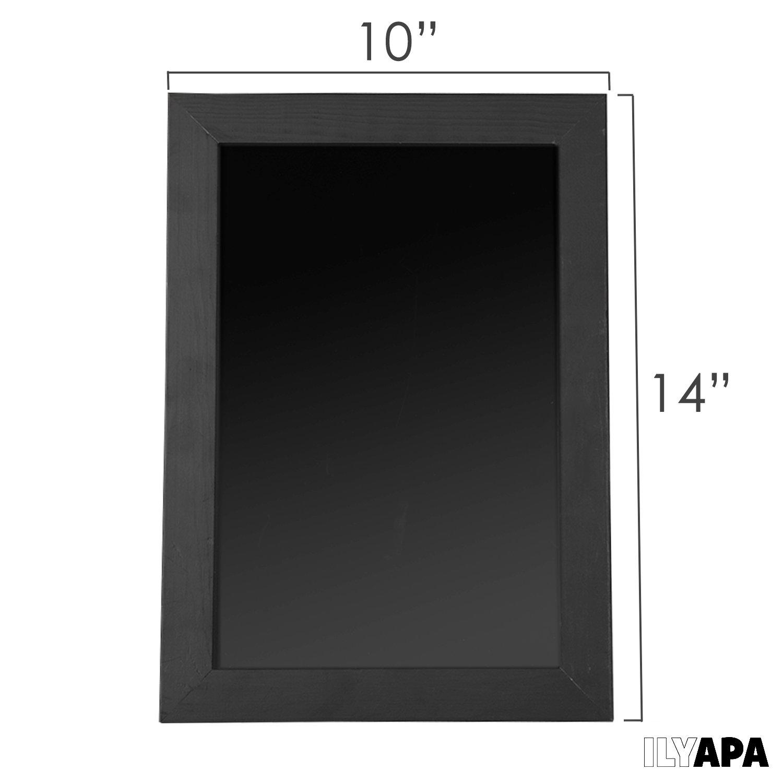 Ilyapa - Placa de Pizarra con Marco, 35,5 Tamaño 25,4 x 35,5 Marco, cm o 30,5 x 40,6 cm, Diseño Rústico para Colgar en la Cocina, 3 Colores a Elegir ae7f15