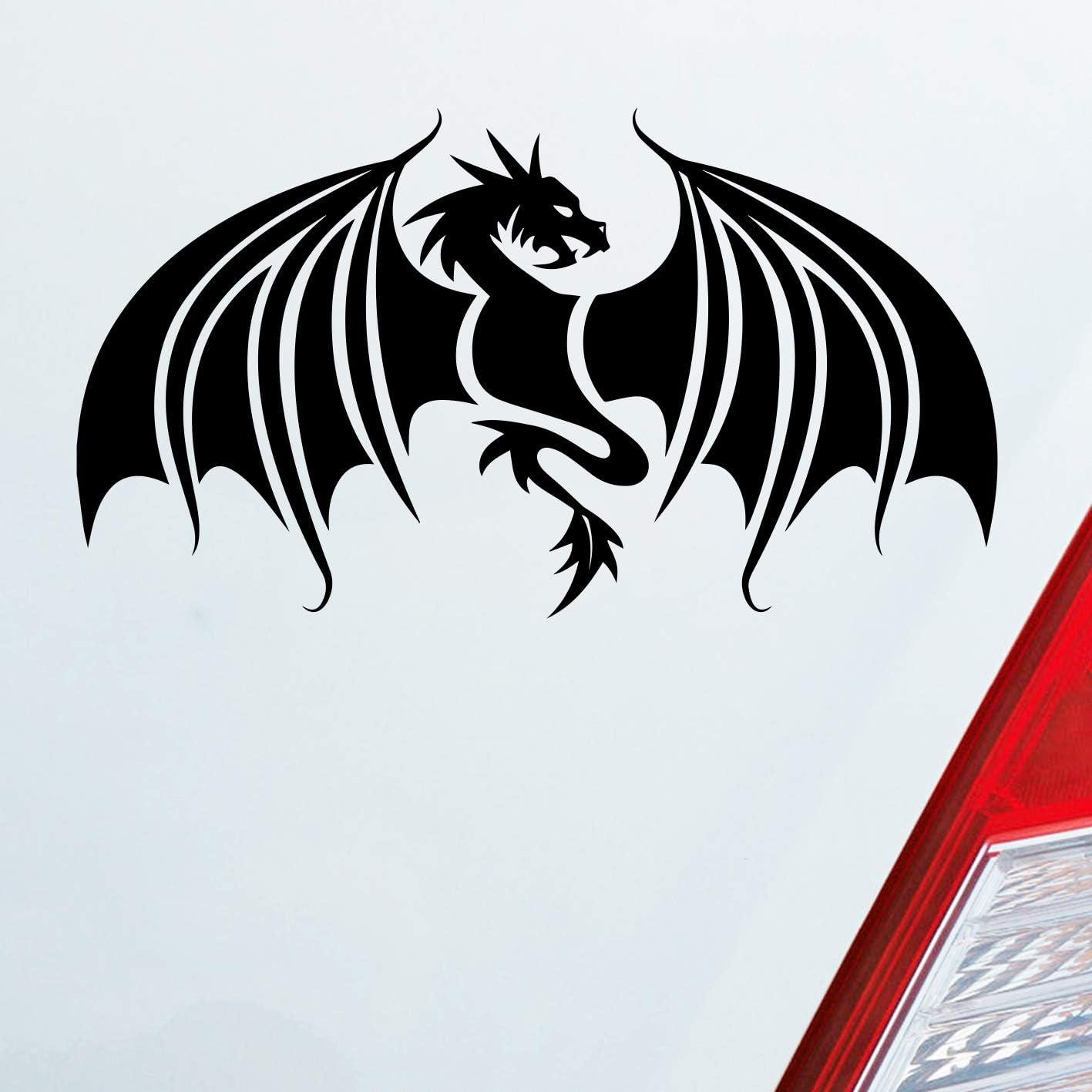Auto Aufkleber In Deiner Wunschfarbe Drache Dragon Chinesisch Game Thrones 12x7 Cm Autoaufkleber Sticker Folie Auto