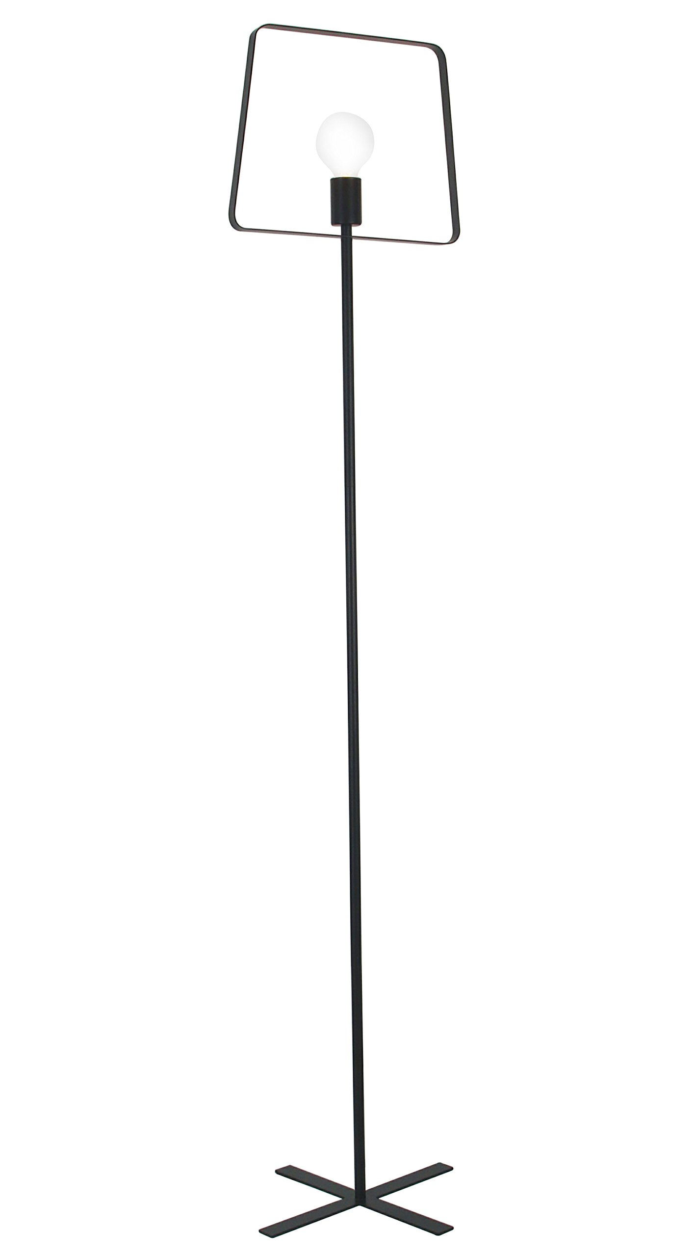 "Industrial Led Tall Floor Lamp for Living Room (Black) - ★【DIMENSIONS】 Shade Size: 65"" high x 13.8"" wide; Base Size: 13.8"" high x13.8"" wide base. On/off rotary switch on the cord attached with the base. Includes non-dimmable 4 watt medium base LED bulb; 3000K color temperature; 750 lumens; comparable to a 60 watt incandescent bulb. ★【EYE PROTECTION & USE】Perfect for reading, working or doing intricate craftwork. A must-have addition to you home or office. This lamp provides natural full spectrum daylight hues, even brightening rooms that have minimal sun exposure. ★【Irregular Geometric Design】Classic black metal frame, modern geometric lines and simple Led bulb, all make a perfect floor lamp and pair perfectly to add contemporary elegance and vintage industrial charm to your home décor. - living-room-decor, living-room, floor-lamps - 61MWFSpMUoL -"