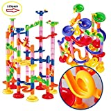 Marble Run Maze Ball Game Marble Maze STEM Educational Toys for Kids Set Marble Run Race Coaster Set, Marble Run Railway Toys [ 135 Pieces ] Construction Toys Building Blocks Set Marble Run Race
