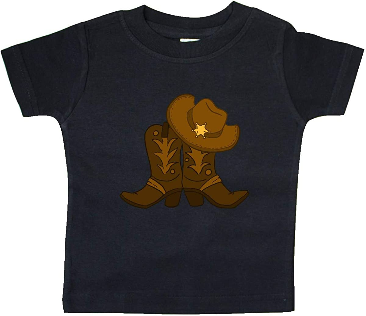 Inktastic Sheriff Hat with Boots Baby T-Shirt