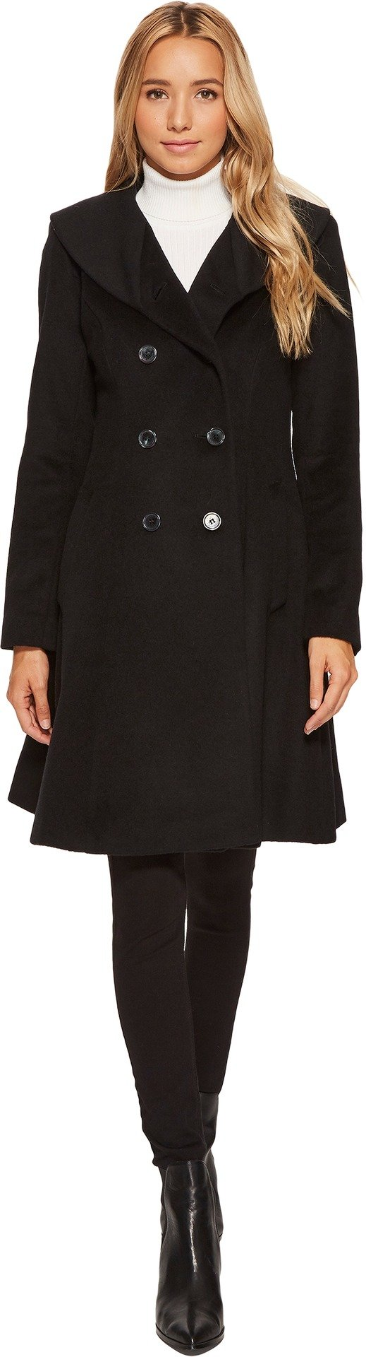 LAUREN Ralph Lauren Womens Fit and Flare Military Black 4 One Size