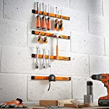 """VonHaus 4 x 16"""" Piece Magnetic Tool Holder Organizer Racks Ideal for Garage and Workshops (Mounting Screws Included)"""