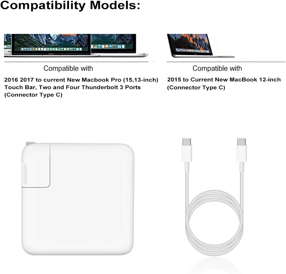 FSKE 61W Chargeur MacBook Pro USB C d'alimentation pour