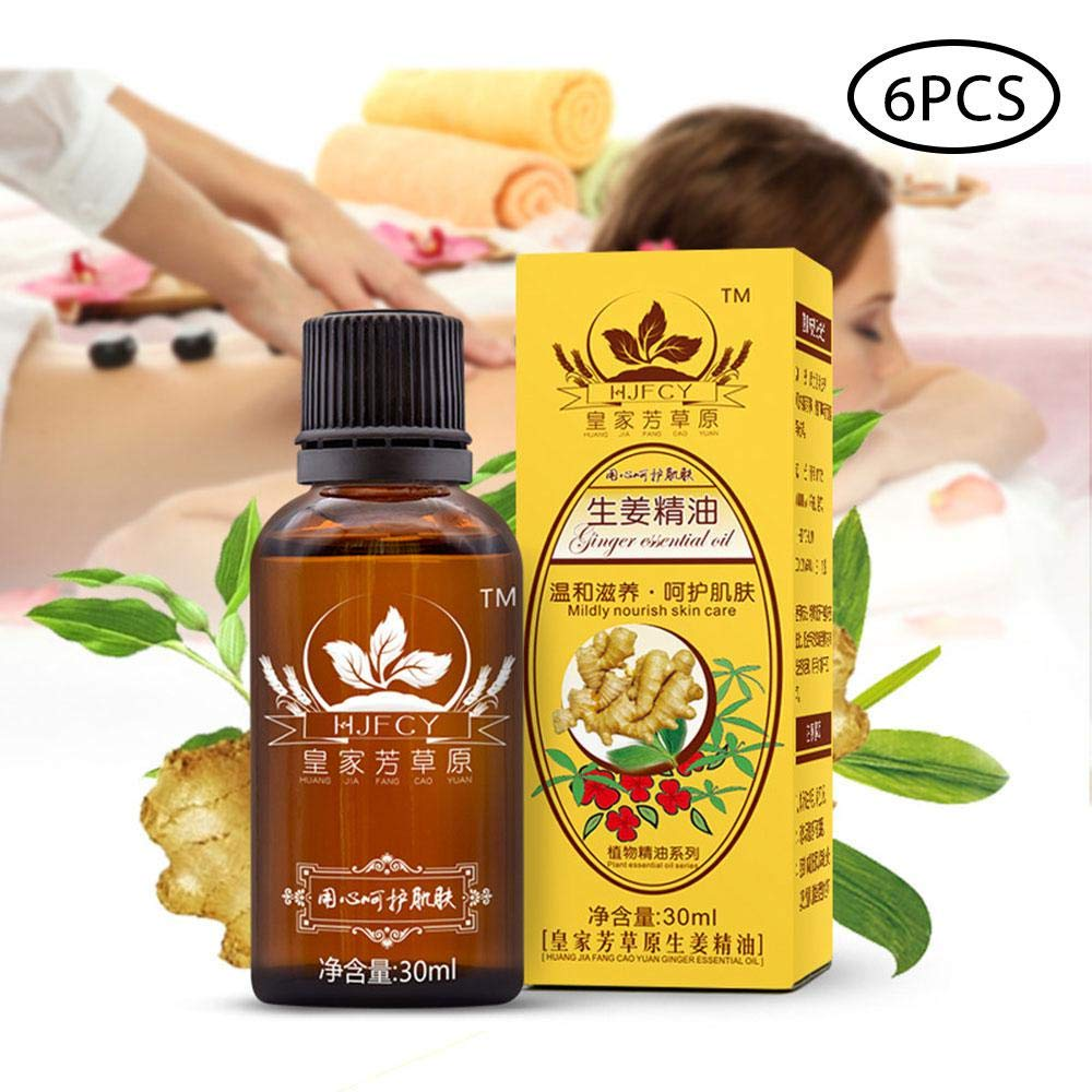 30ml New Magic Plant Lymphatic Drainage Ginger Essential Oils, Pure Natural SPA Massage Oils, 100% Pure Natural Teepao