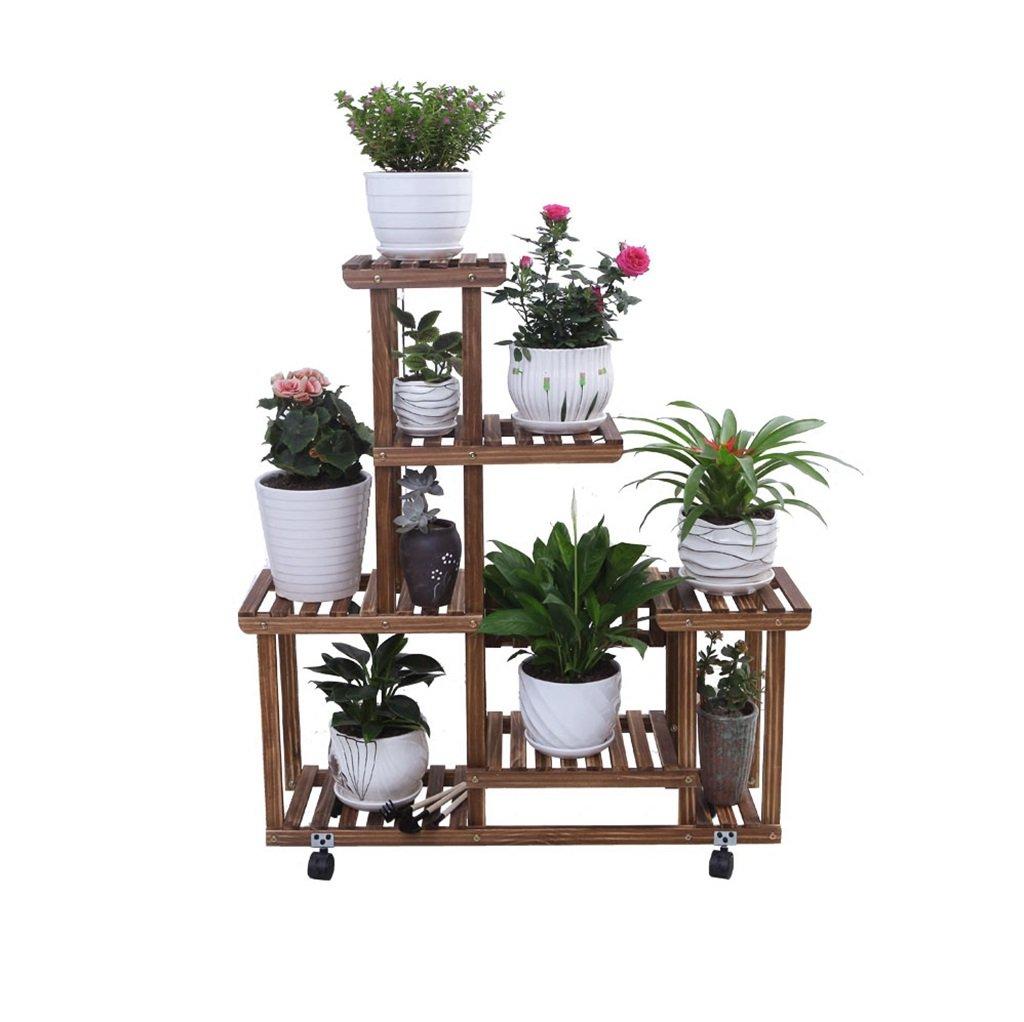 Cornice floreale   Stand per piante all'aperto   Espositore per fiori multilivello Espositore per mensole in legno per espositori per vasi da fiori Piantana per ripiani da giardino per soggiorno inter