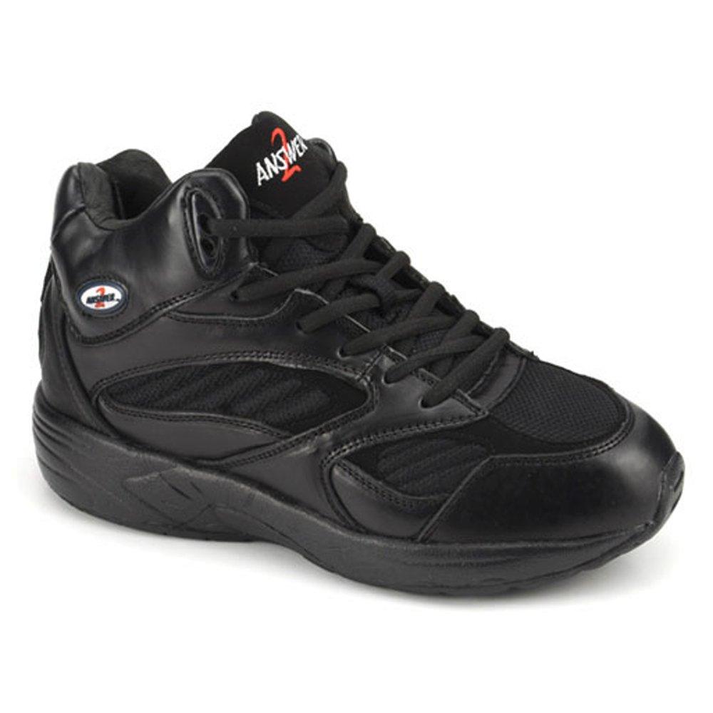 Apis Answer2 552-1 Men's Therapeutic Extra Depth Shoe Leather Lace B00HB9FB34 13.0 Wide (2E) Black Lace US Men Black