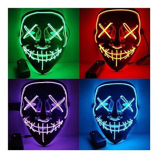 TH999 Máscaras de Halloween LED de Purga máscara máscaras ...
