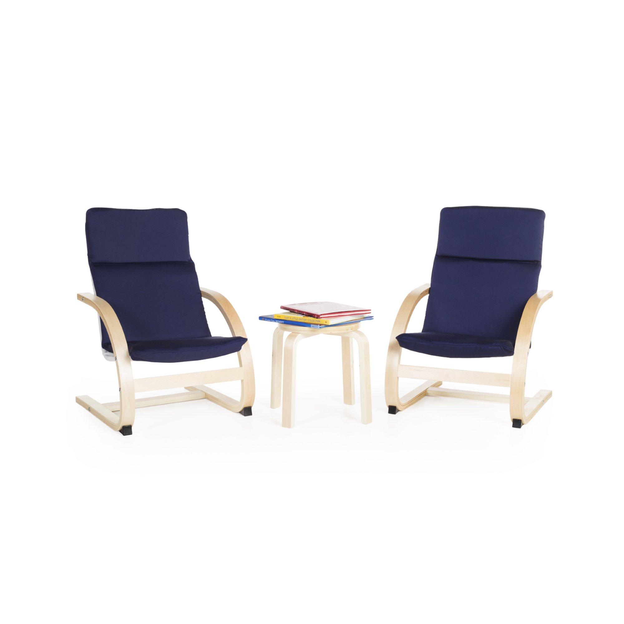 Guidecraft Kiddie Rocker Chair Set - Blue G6406 by Guidecraft