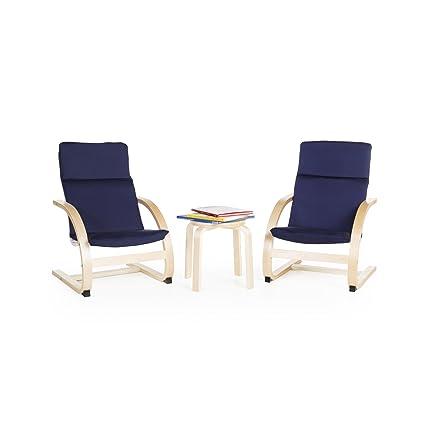 Groovy Guidecraft Kiddie Rocker Chair Set Blue G6406 Bralicious Painted Fabric Chair Ideas Braliciousco