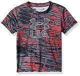 Under Armour Baby Boys Big Logo Short Sleeve Tee Shirt, Neon Coral Su19, 18M