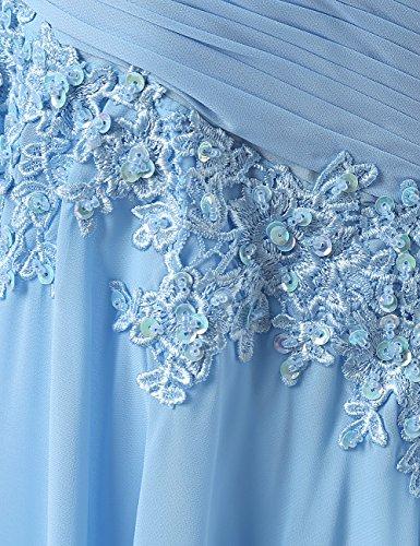 Dresstells®Vestido De Gala Fiesta Atractivo Elegante Largo Con Aplicaciones De Gasa Verde