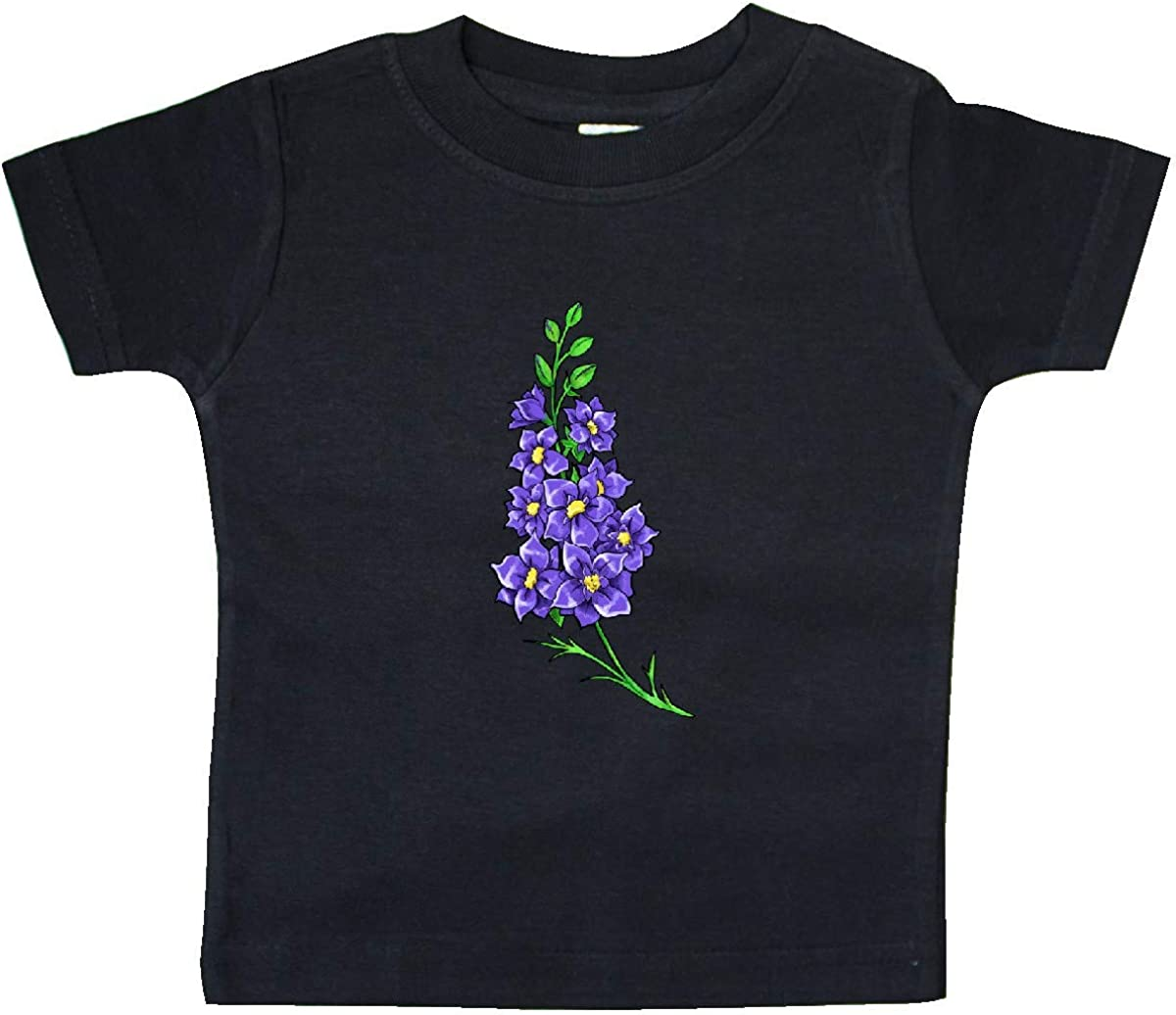 inktastic Larkspur Delphinium Wildflowers Baby T-Shirt