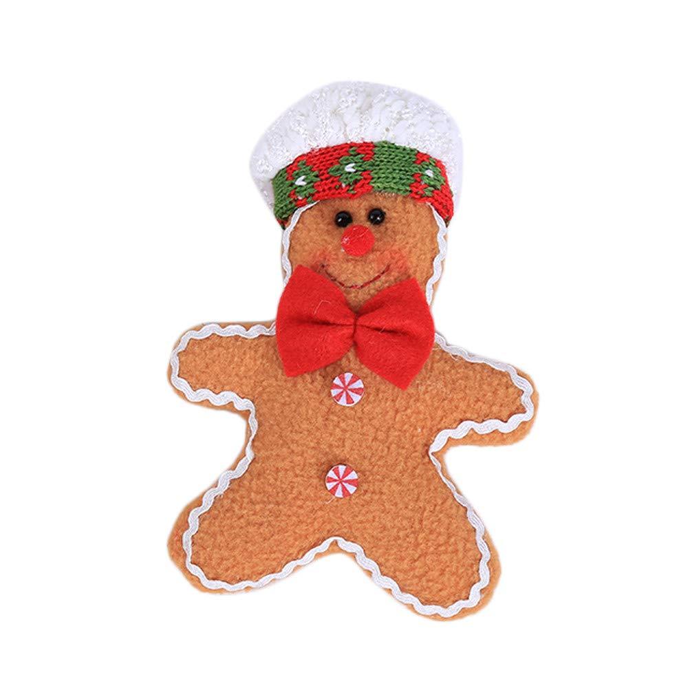 Nadition Christmas Decorations,2018 Cute Christmas Decorate Gingerbread Man Ornament Plush Small Pendant Plush Toys