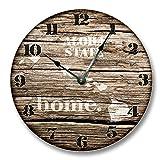 HAWAII STATE HOMELAND CLOCK - ALOHA STATE- Large 10.5'' Wall Clock - Printed Wood Image- HI_FT