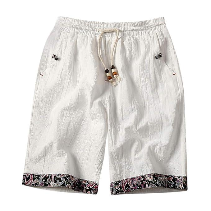 Snowbuff Pantaloncini da Uomo in Cotone e Canapa con Stampa