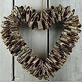 Gainsborough Giftware Birch Bark Heart Wreath (One Size) (Brown)